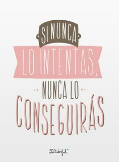 Si nunca lo intentas, nunca lo conseguirás. Mr Wonderful
