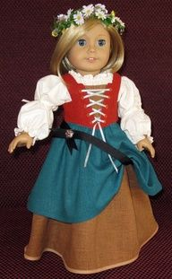 Irish Renaissance Dress for American girl. Um, this is awesome. Have to make it yourself though, the link doesn't show how to.