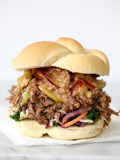 Korean Pulled Pork Sandwiches recipe from Foodie Crush - The Sandwich Recipes To End All Other Sandwich Recipes