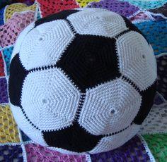 Crochet football / soccer ball for my son