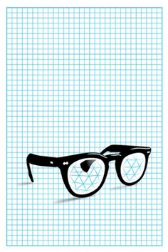HunterGatherer - Perspective, Grid, Illustration, Glasses, Hipster, Clark Kent/Superman?, Poster Design
