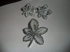 Silvertone Vintage Sarah Coventry Shiny Leaf by PECollectibles, $28.50