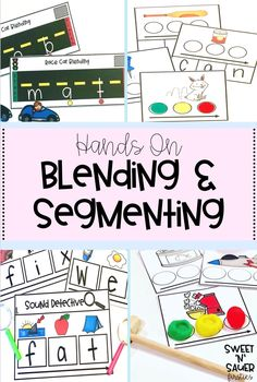 Try my hands-on activities to get your students practicing foundational reading and phonics skills, such as blending and segmenting! This is a growing bundle, and can be used easily for differentiation since there are activities as simple as identifying the beginning sound, all the way to blending words. This is a great resource to use during guided reading groups, intervention, or even work for reading centers!