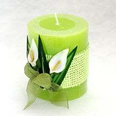 Pillar Candles, Green Candles, All Craft, Diwali, Candle Holders, Lime, Pretty, Christmas, Crafts