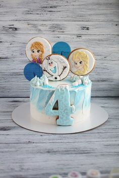 Фотография Frozen Themed Birthday Cake, Birthday Cakes, Bolo Frozen, Elsa Cakes, Fashion Cakes, 4th Birthday Parties, Frozen Party, Cupcake Cakes, Children