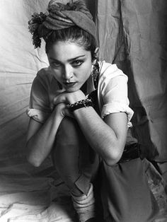 Early picture of Madonna. I'm including this because it's very much a street kind of look of the time, 1980s fashion