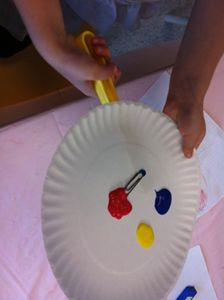 Magnet Painting. Put a magnet under a paper plate with paint on it. Have the students use a magnet to make pictures! Great way to study magnets!!