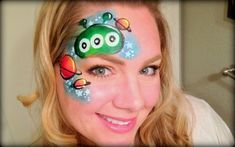 how to do an alien face paint by Lisa Joy Young