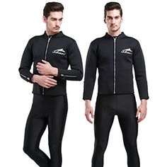 Warm Neoprene cold black scuba jacket winter jacket men's scuba diving clothing surf swimsuit , black , l -- Awesome products selected by Anna Churchill
