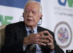 """Former President Jimmy Carter issued a blistering indictment of the U.S. electoral process Tuesday, saying it is shot through with """"financial corruption"""" that threatens American democracy.  Speaking at the international human rights center that bears his name, Carter said """"we have one of the worst election processes in the world right in the United States of America, and it's almost entirely because of the excessive influx of money."""""""