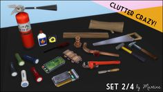 The Sims 4 | Martine: Clutter Crazy Part 2 - Tools and Garage | buy mode new objects deco