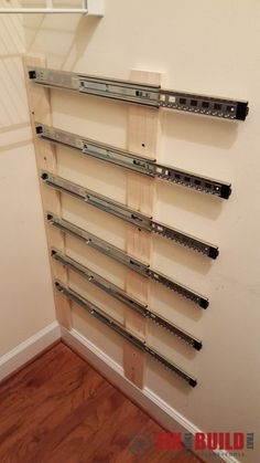 You've Seen Pallet Crate Storage.but Have You Seen Them Float? - - You've Seen Pallet Crate Storage.but Have You Seen Them Float? - Using pallet crates and some full extension drawer slides you can make the ultimate space s. Pallet Crates, Pallet Storage, Crate Storage, Extra Storage, Diy Pallet, Wooden Crates, Pallet Ideas, Storage Boxes, Diy Storage Drawers