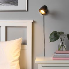 Wall Mounted Bedside Lamp, Wall Sconces, Wall Lamps, Bedroom Sconces, Ikea Bedroom, Ikea Lamp, Work Lamp, Tv Wall Design, Bedrooms
