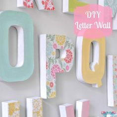 Diy Letter Wall Decor Pinterest Cardboard Letters And