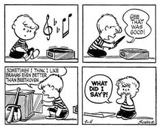 Charlie Brown always had a thing or two to say about vinyl. Created by Charles M. Schulz, the Peanuts story needs no introduction, holding down a spot in newspapers across the world for a good fifty years, amassing over … Charlie Brown Music, Charlie Brown Und Snoopy, Peanuts Cartoon, Peanuts Gang, Peanuts Comics, Snoopy Comics, Fun Comics, Classical Music Humor, Radios