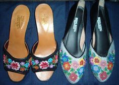 nonya beaded shoes incl a short video