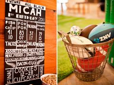 Rustic-Chic Rugby 1st Birthday Party