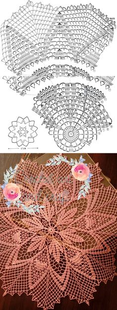 This pattern I found on the Internet - doily made by Crochet art and craft