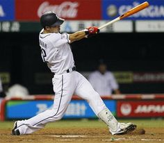 Hideto Asamura's big night at Seibu Dome: he singled twice and rips a two-out, bases-clearing double off Motoki Higa to left-center field to drive in 3 runs and give Lions a 6-1 lead in the bottom of the 6th inning on Thursday, September 13, 2012.