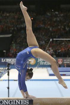 Aliya Mustafina - Beam Gold - Worlds 2013
