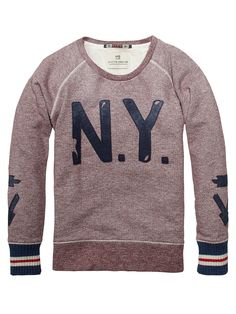 Crew Neck Sweater With Patches > Kids Clothing > Boys > Sweaters at Scotch Shrunk - Official Scotch & Soda Online Fashion & Apparel Shops Little Boy Fashion, Fashion Kids, Kids Clothes Boys, Kids Clothing, Kids Clothes Australia, Scotch Shrunk, Scotch Soda, Boys Sweaters, Clothing Labels