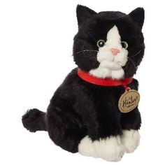 Hamleys Sitting Black Cat Soft Toy Apart from the odd meow, they dont answer back and they are perfect for playtime AND cuddles - cats are the best and here at Hamleys we adore them! As part of a wide selection of soft toys these cute  http://www.MightGet.com/february-2017-3/hamleys-sitting-black-cat-soft-toy.asp