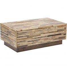 Caledonia Reclaimed Pine Wood 2 Drawer Coffee Table