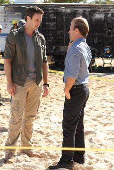 Scott Caan and Alex O'Loughlin in Hawaii Five-0