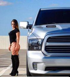 Big Rig Trucks, Ram Trucks, Dodge Trucks, Trucks And Girls, Car Girls, Diesel Trucks, Sexy Cars, Hot Cars, Chevy Pickup Trucks