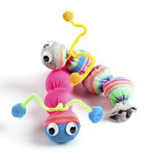 Sock-tapillar a fun no-sew, children's craft activity