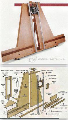 Panel Saw Plans - Circular Saw Tips, Jigs and Fixtures | WoodArchivist.com