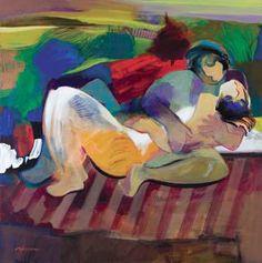 "Original Painting ""Corner of Beauty"" by Abrishami Hessam"