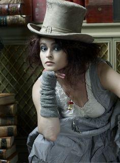 Helena Bonham-Carter as the Mad Hatter