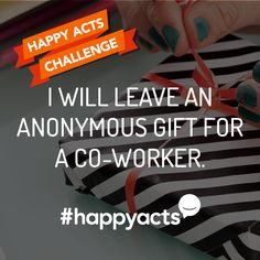 Perform to make someone's day a little brighter. Join Live Happy and help make the world a happier place Happy National Day, Happiness Project, Employee Appreciation, Good Deeds, Live Happy, Challenge Me, Random Acts, Faith In Humanity, Blessing