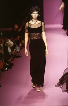 Valeria Mazza - Lolita Lempicka Ready-To-Wear Fall/Winter 90s Fashion, Runway Fashion, High Fashion, Lolita Lempicka, Editorial Fashion, Supermodels, Style Me, Ready To Wear, Goth