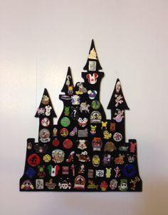 Pin castle Disney pin trading display Disneyland, Princess and Hogwarts
