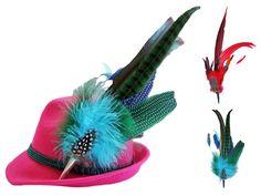 Zu jedem traditionellen hübschen Damen Trachtenhut gehört auch eine große, auffallende und prachtvolle Feder. Machen Sie mehr aus Ihrem Hut mit einer dieser stylischen Federgarnituren!