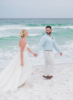Newlyweds on the Beach | Emerald Coast Destination Wedding Photographer | The Jacksons Photography