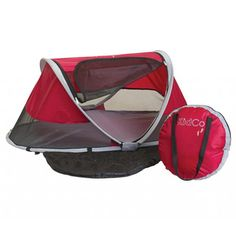 @Overstock.com - KidCo PeaPod Travel Bed in Cranberry - The Kidco PeaPod Travel Bed features a compact, portable design that makes it a great sleep environment for short visits or long trips. This travel bed is surrounded by lightweight mesh that promotes air flow and acts as an insect screen.  http://www.overstock.com/Baby/KidCo-PeaPod-Travel-Bed-in-Cranberry/8146429/product.html?CID=214117 $69.95