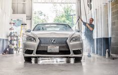We're getting Tuesday underway with a thorough hand wash on this Lexus #LS460 that's in for a Premium XPEL paint protection package!