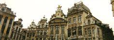 Panorama Shot of La Grande Place, Brussels, Belgium (2) (April 2000)