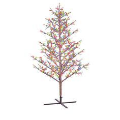 Lb International 6-ft Pre-Lit Twig Slim Artificial Christmas Tree ...