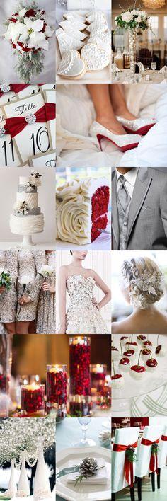 Festive Christmas Wedding Inspiration Board