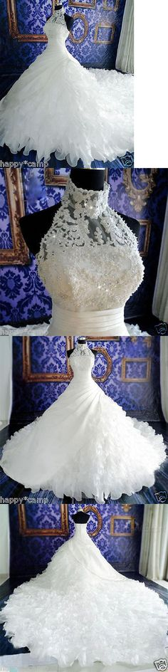 Wedding Dresses: New White/Ivory Lace Bridal Gown Wedding Dress Custom Size 4 6 8 10 12 14 16 18+ -> BUY IT NOW ONLY: $132.05 on eBay!