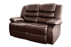 Bonded Leather Dream 2 Seater Recliner Couch (Brown) Fluffy Cushions, Soft Pillows, Sofa Bed Mattress, Panton Chair, Sofa Home, Fabric Covered Button, Dust Mites, Bonded Leather, Sofa Set