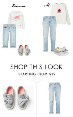 """""""Mummy&Daughter <3"""" by pocok01 ❤ liked on Polyvore featuring Current/Elliott, Nine West, cute, Sweater, boyfriend, watermelon and mommy"""