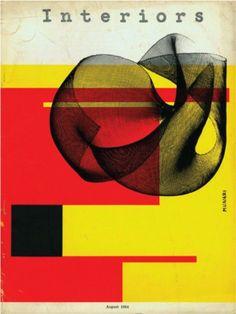 Bruno Munari, cover for Interiors Magazine, 1954(via)