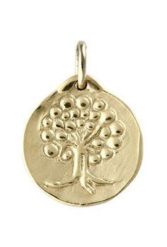 Medaille de bapteme or Arbre de Vie - MELY Création