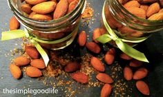 the perfect treat for beer lovers! spicy beer almonds. enjoy.