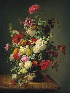 Flower still life by Simon Saint-Jean 19th century